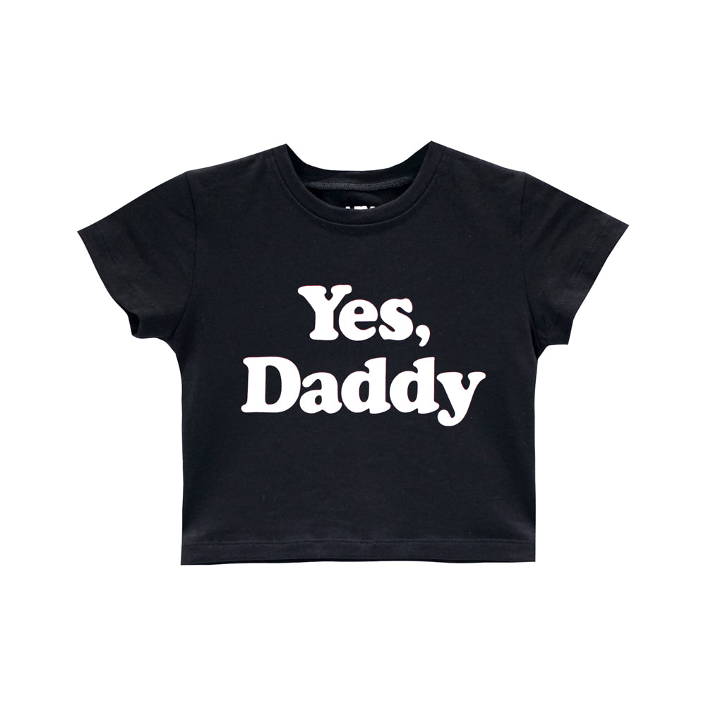 YES DADDY CROP TEE FITTED