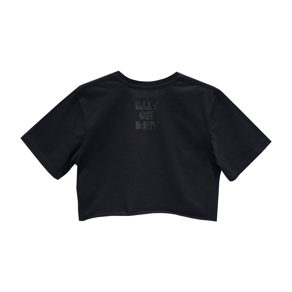 ZERO FUCKS CROP TEE OVERSIZED