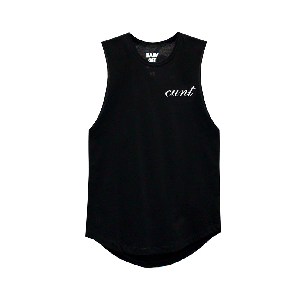 CUNT V2 GIRLS MUSCLE TEE SMALL PRINTS