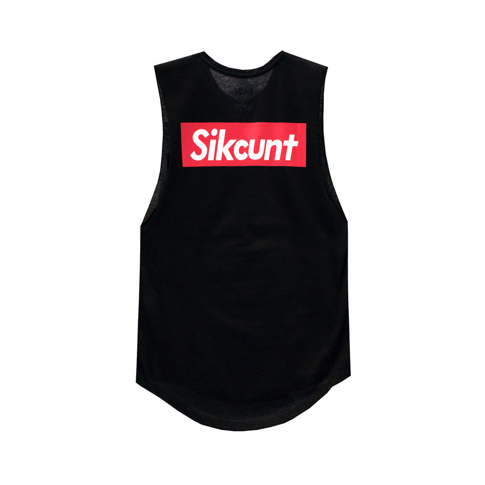 SIKCUNT GIRLS MUSCLE TEE SMALL PRINTS