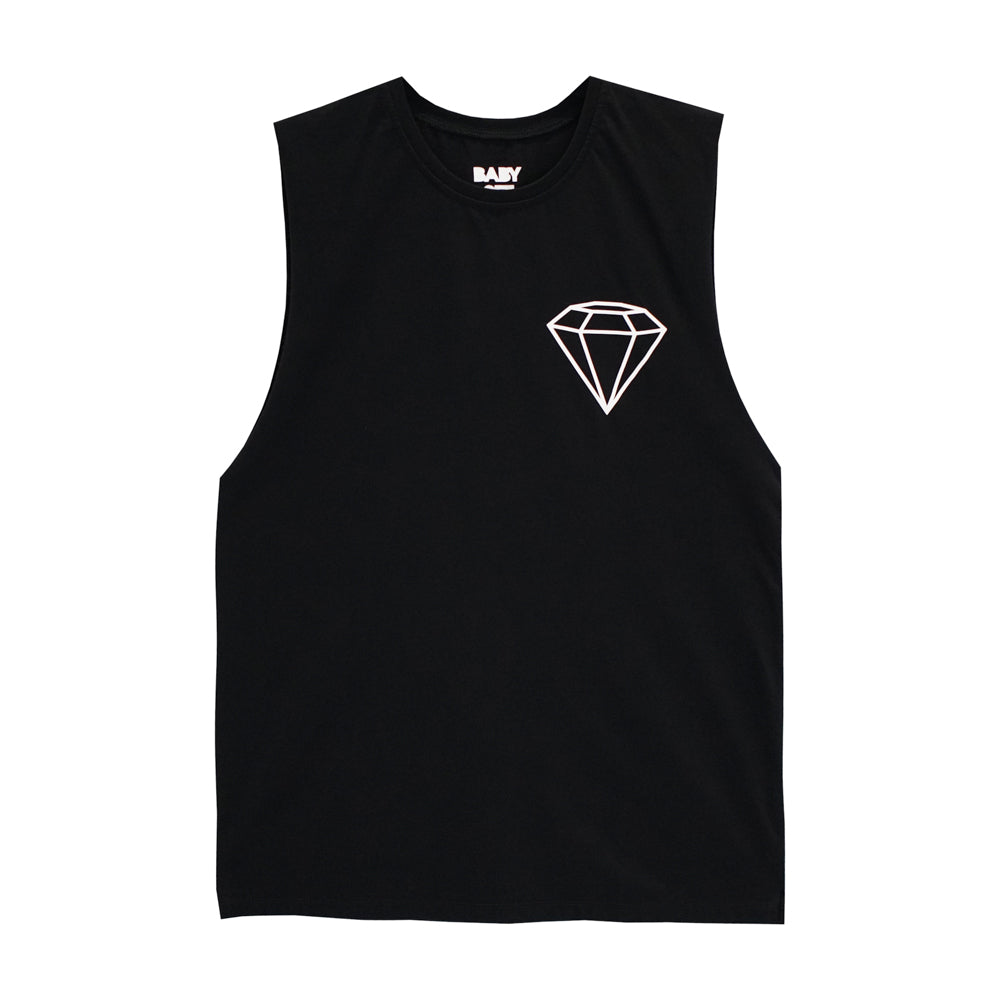 DIAMOND V2 BOYS MUSCLE TEE SMALL PRINTS