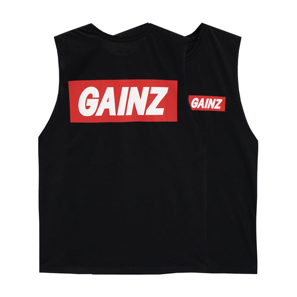 GAINZ BOYS MUSCLE TEE SMALL PRINTS