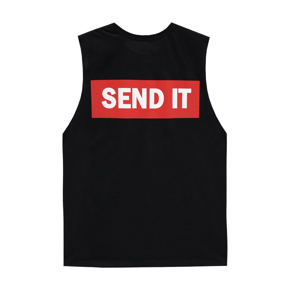 SEND IT BOYS MUSCLE TEE SMALL PRINTS