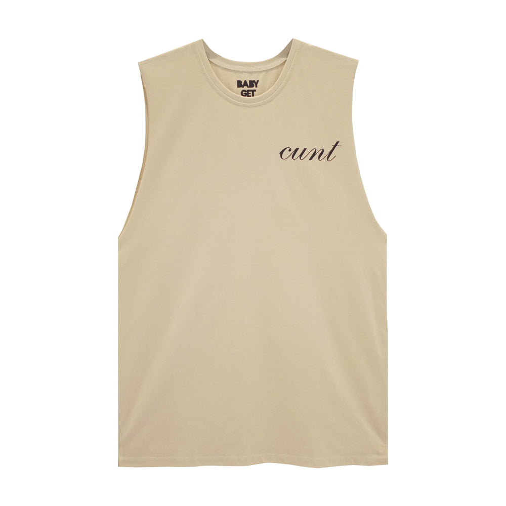 CUNT V2 BOYS MUSCLE TEE SMALL PRINTS