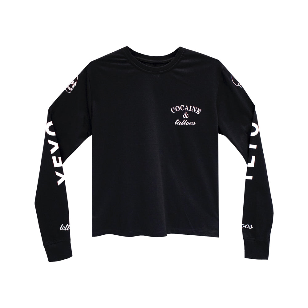 COCAINE & TATTOOS GIRLS LONG SLEEVE