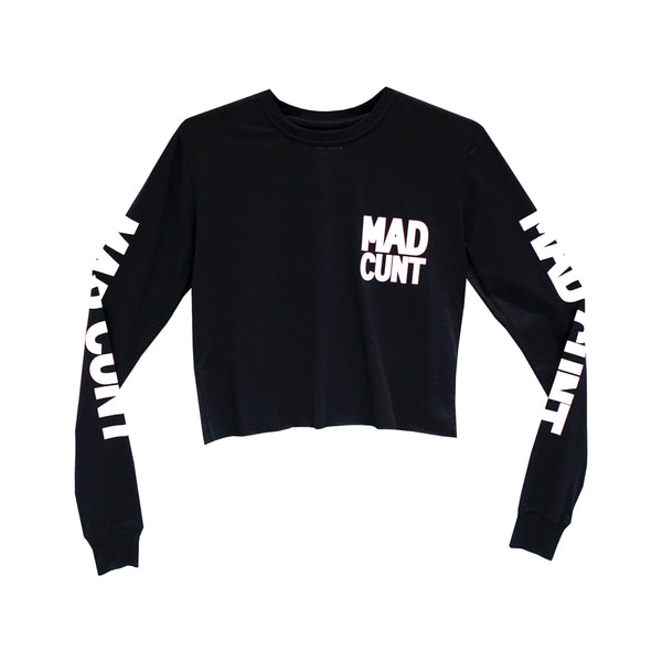 MAD CUNT GIRLS LONG SLEEVE CROP
