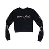 ZERO FUCKS GIRLS LONG SLEEVE CROP