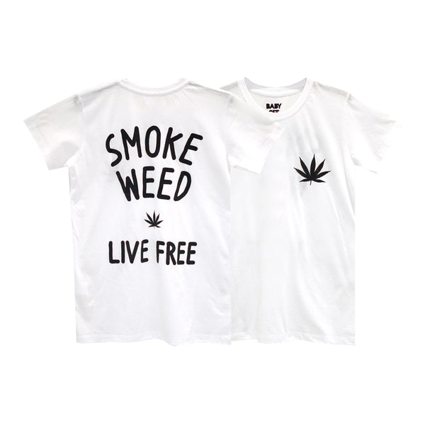 SMOKE WEED GIRLS SMALL PRINT TEE
