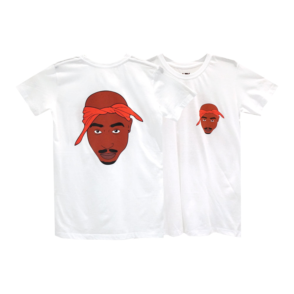 TUPAC GIRLS SMALL PRINT TEE