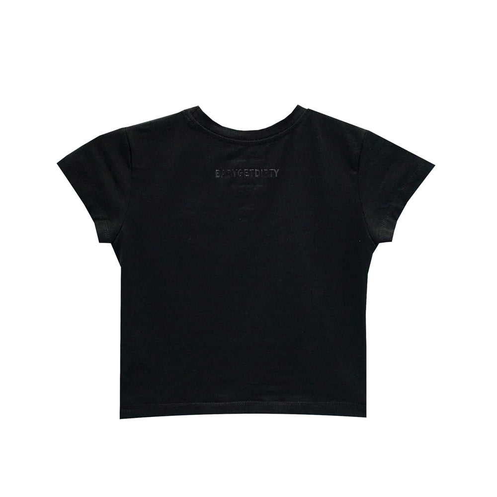 ZERO FUCKS CROP TEE FITTED