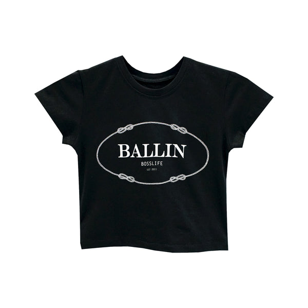 BALLIN BOSSLIFE CROP TEE FITTED