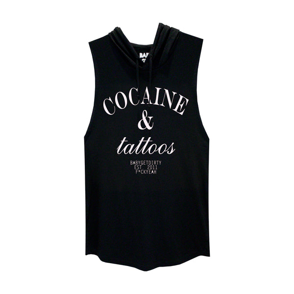 COCAINE & TATTOOS BOYS MUSCLE TEE HOODIE