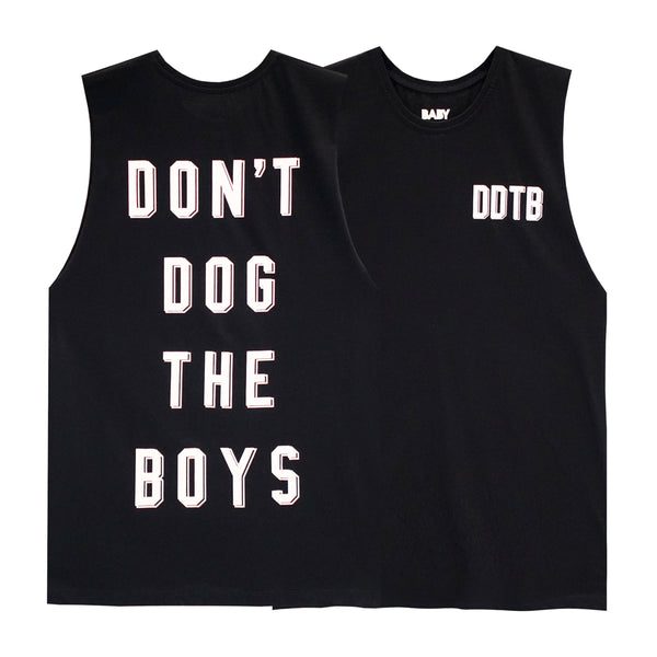 DON'T DOG THE BOYS BOYS MUSCLE TEE SMALL PRINTS