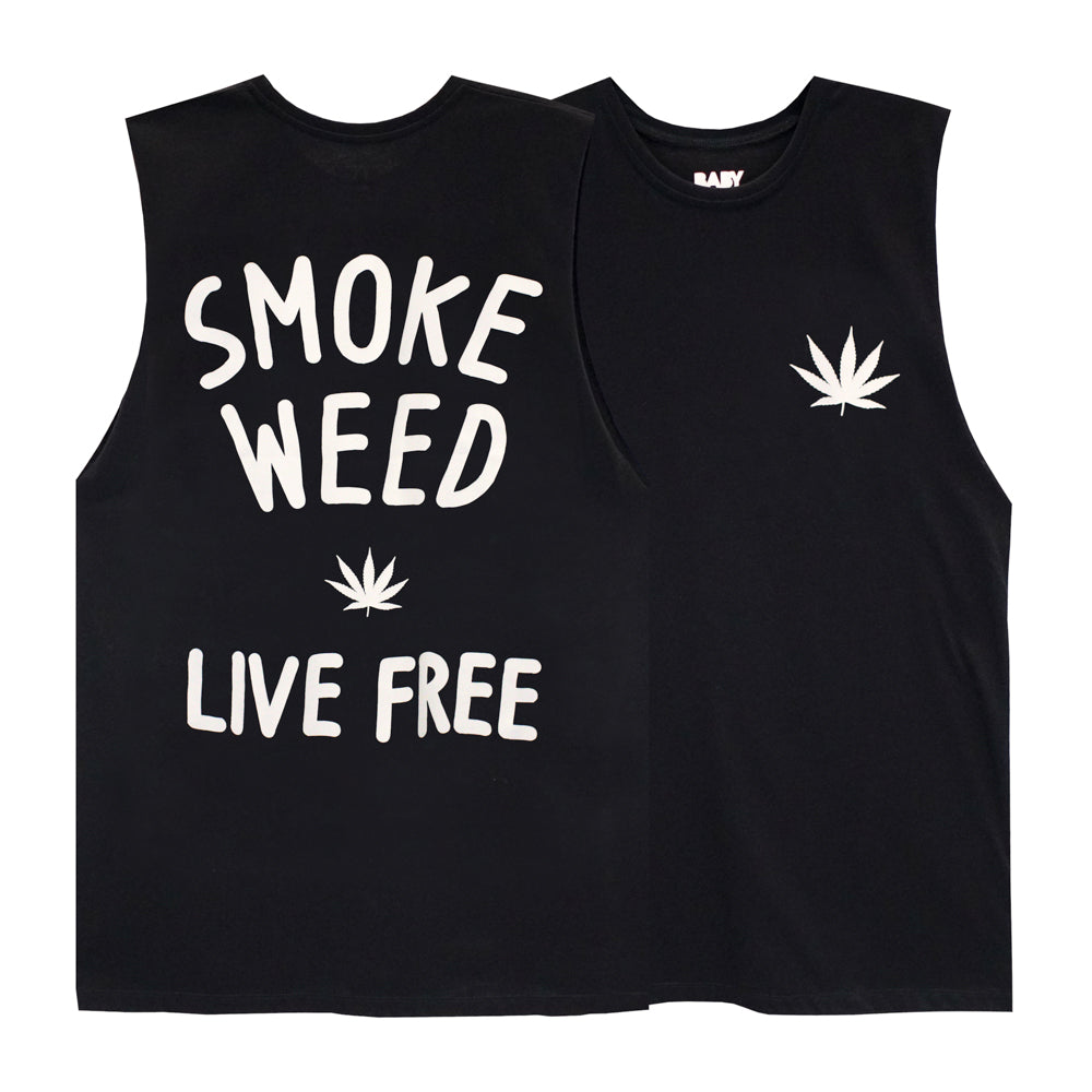 SMOKE WEED BOYS MUSCLE TEE SMALL PRINTS