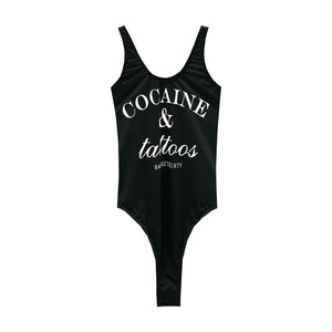 COCAINE & TATTOOS SWIMSUIT HIGH