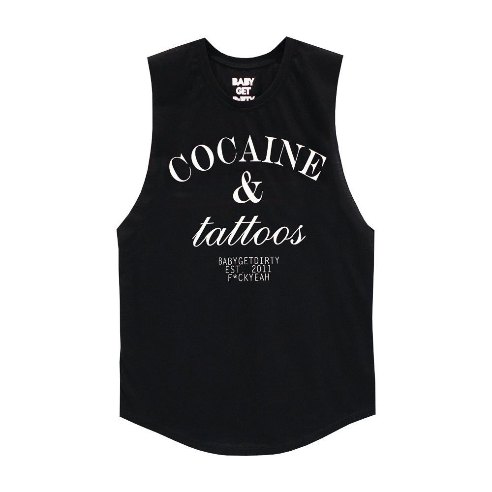 COCAINE & TATTOOS BOYS MUSCLE TEE