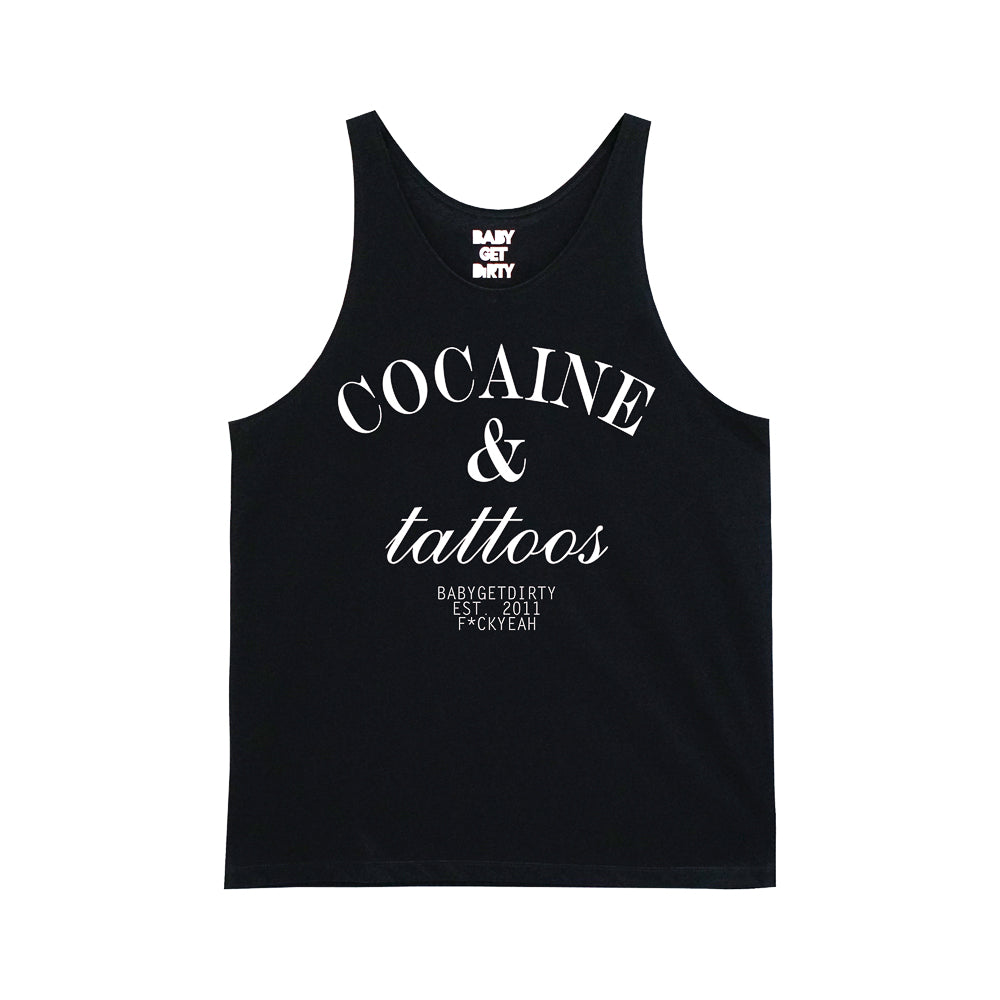 COCAINE AND TATTOOS BOYS STANDARD SINGLET V2