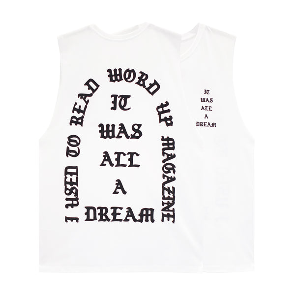 IT WAS ALL A DREAM V2 BOYS MUSCLE TEE SMALL PRINTS