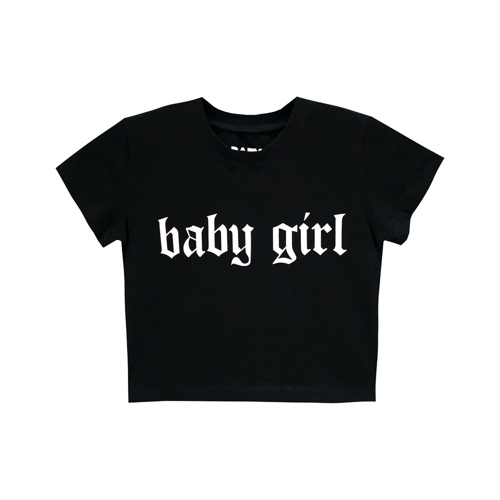 BABY GIRL CROP TEE FITTED