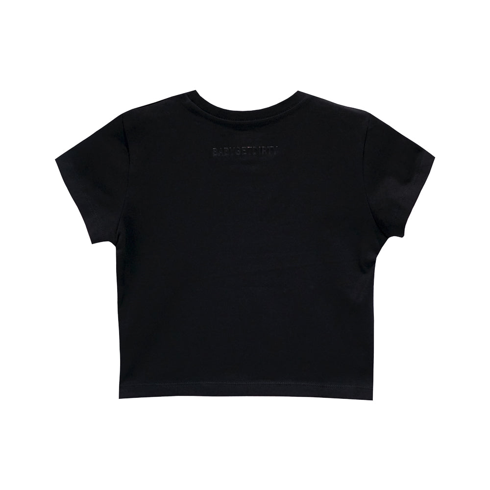 BASIC BITCH CROP TEE FITTED