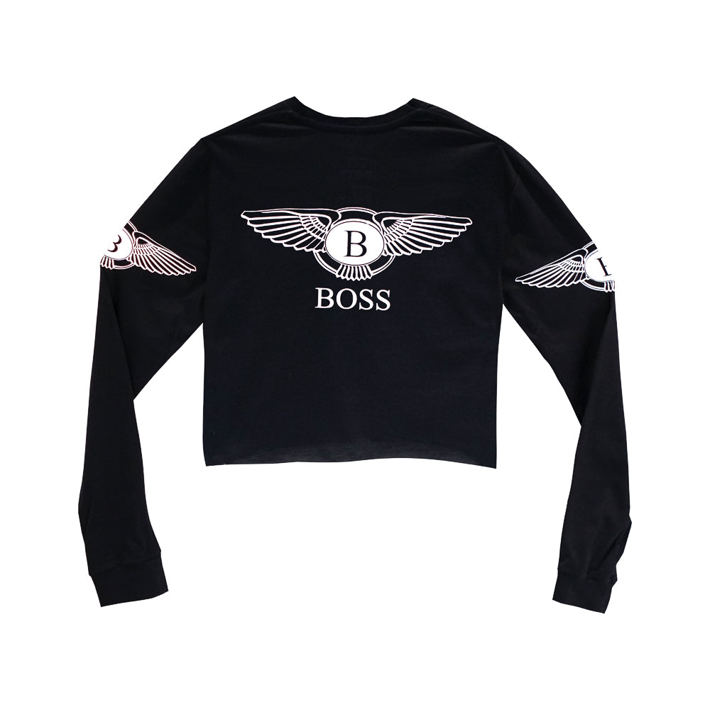 BOSS GIRLS LONG SLEEVE CROP