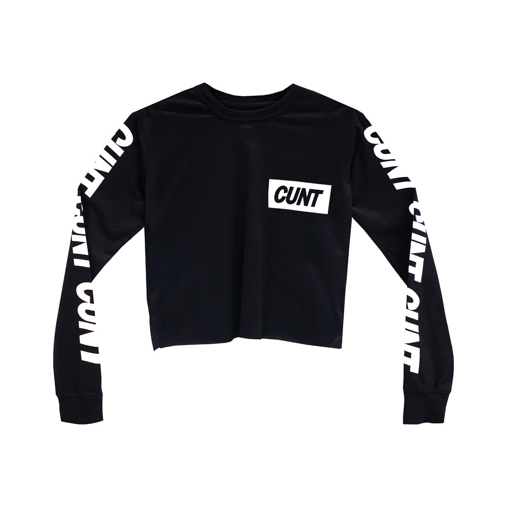 CUNT GIRLS LONG SLEEVE CROP
