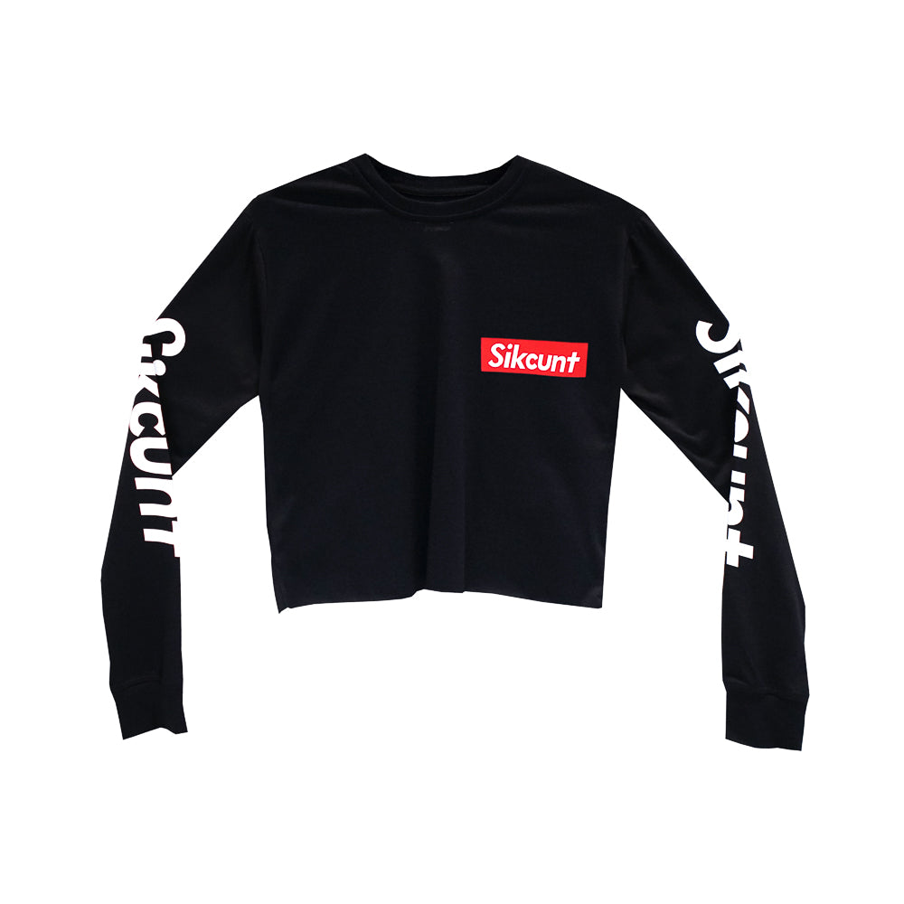 SIKCUNT GIRLS LONG SLEEVE CROP