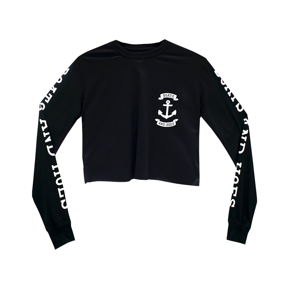 BOATS AND HOES GIRLS LONG SLEEVE CROP