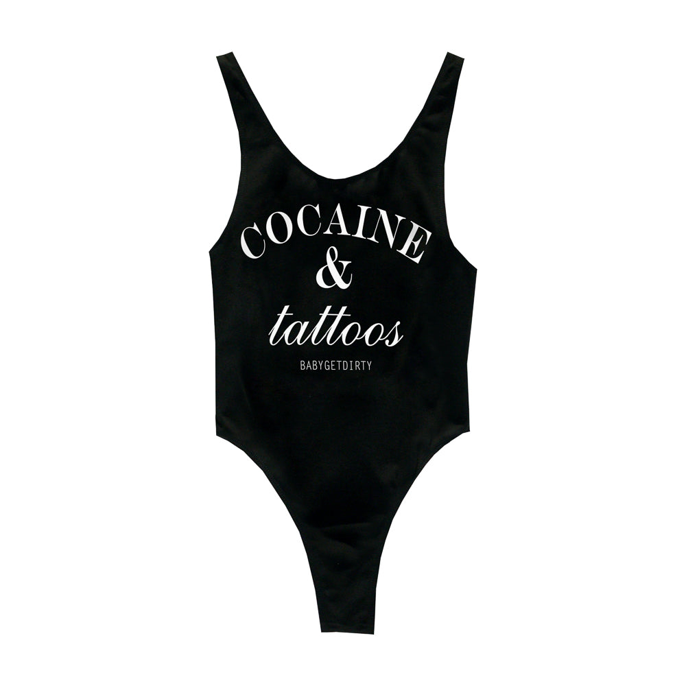 COCAINE & TATTOOS BODYSUIT MID CUT