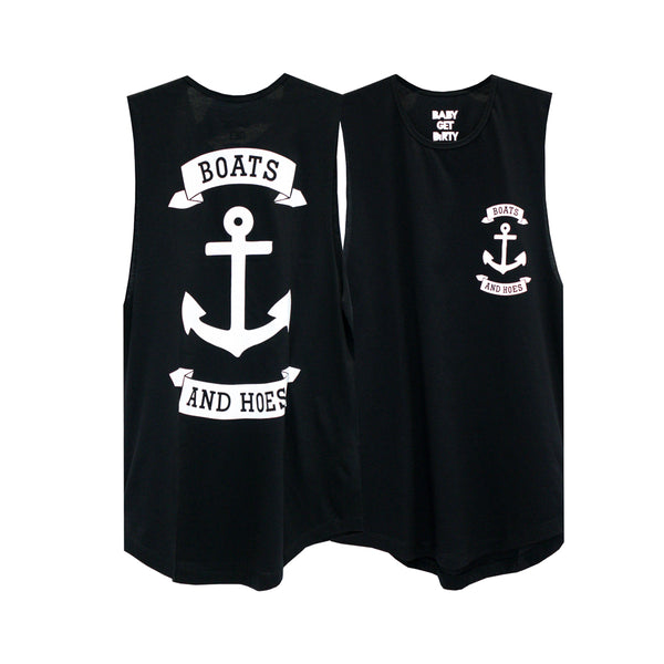 BOATS & HOES GIRLS MUSCLE TEE SMALL PRINTS