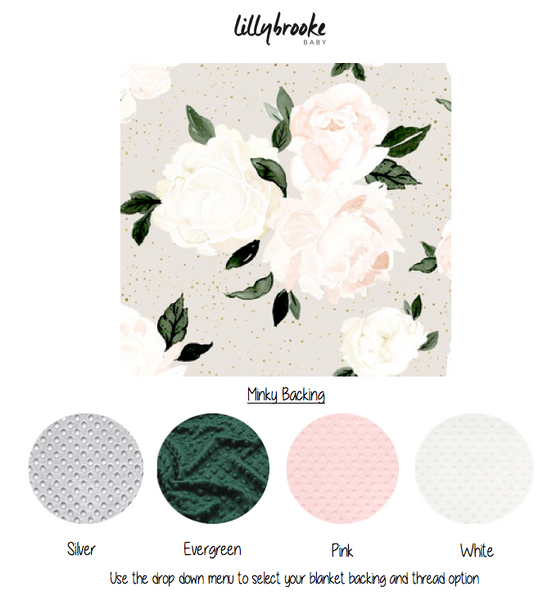 Personalized Blanket - Blush Florals
