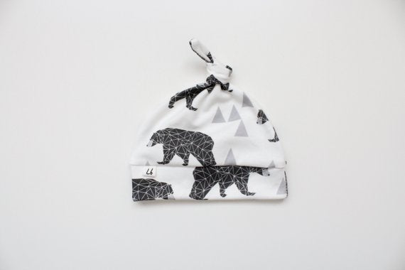 Top Knot Hat - Geo Bears