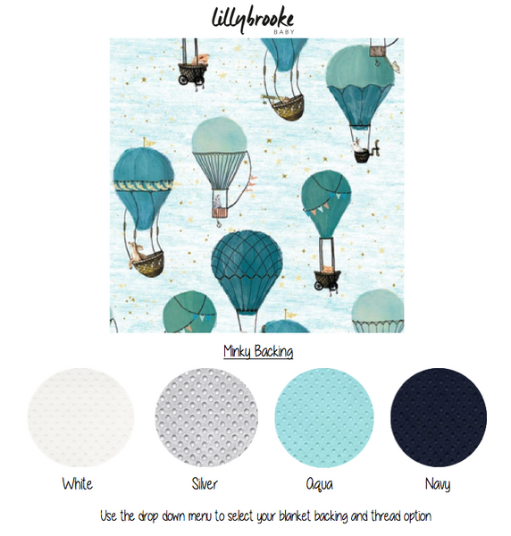 Personalized Blanket - Hot Air Balloons
