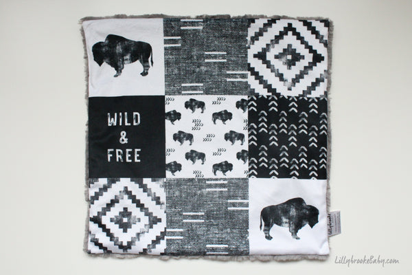 Minky Blanket - Bison Cheater Quilt