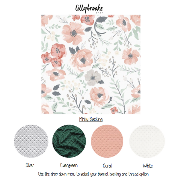 Personalized Blanket - Pastel Florals