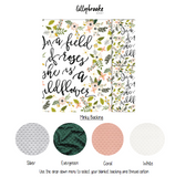 Personalized Blanket - Coral Wildflower