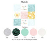 Personalized Blanket - You Are My Sunshine Pink