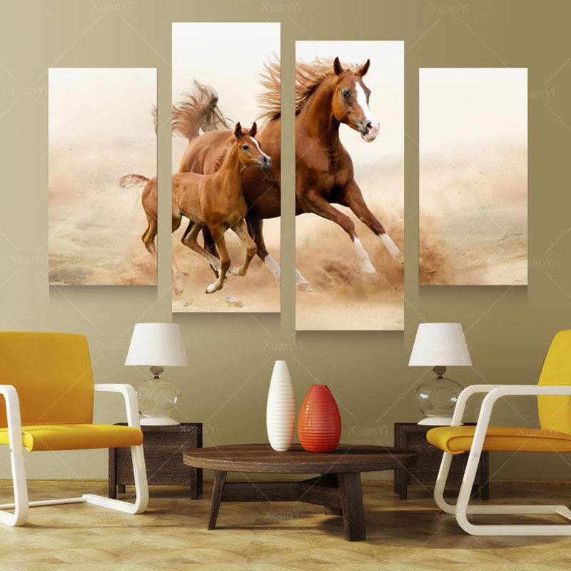 Wall Art Decor - Mom & Child Horses - Zana Horse