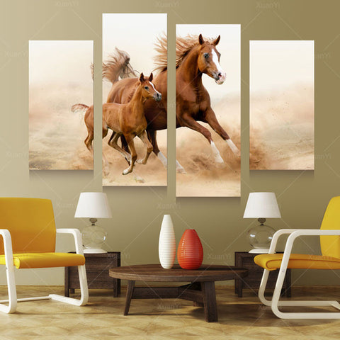 Wall Art Decor - Mom & Child Horses