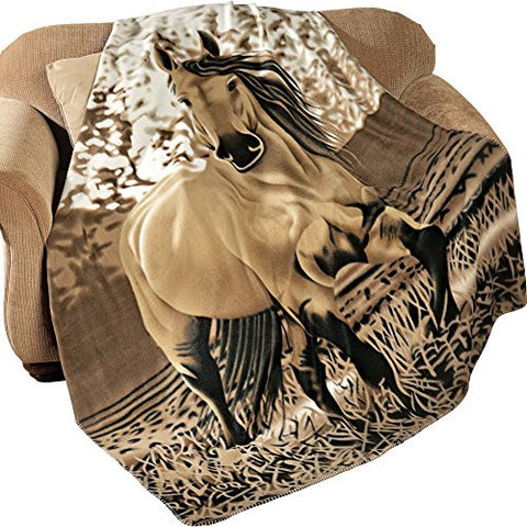Horse Fleece Throw