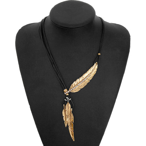 Bohemian Style Feather Necklace