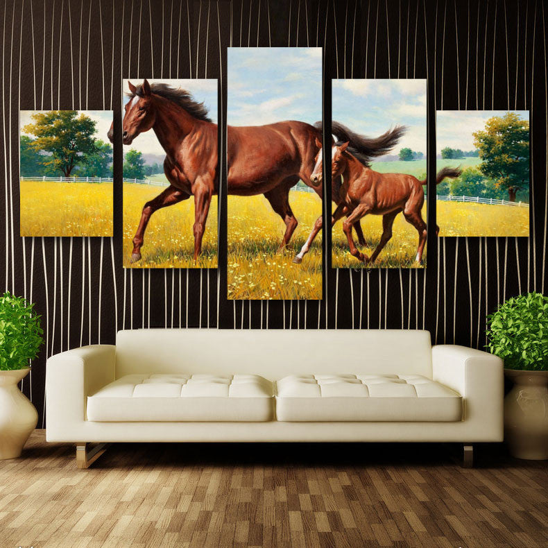 Wall Art Decor - Mother & Pony - Zana Horse
