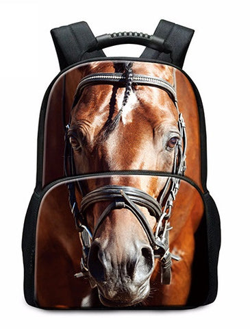 Horse Printed Backpack