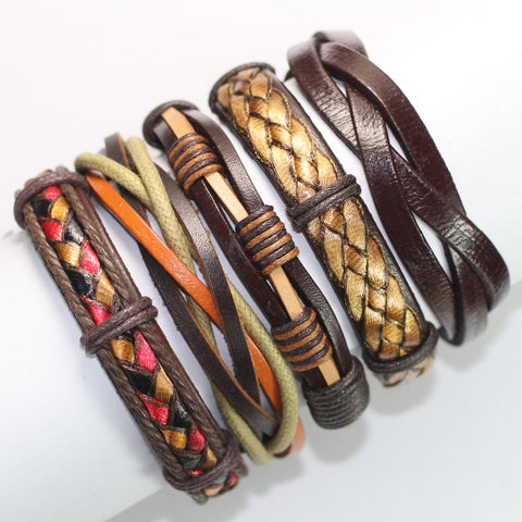 Boho-Inspired Leather Bracelets