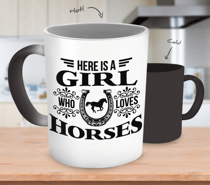 Girl who loves Horses Mug - Zana Horse - 1