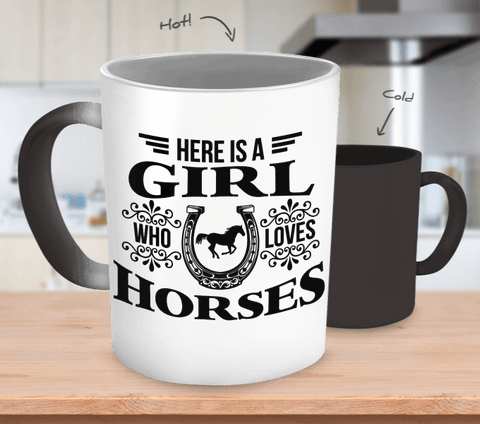Girl who loves Horses Mug