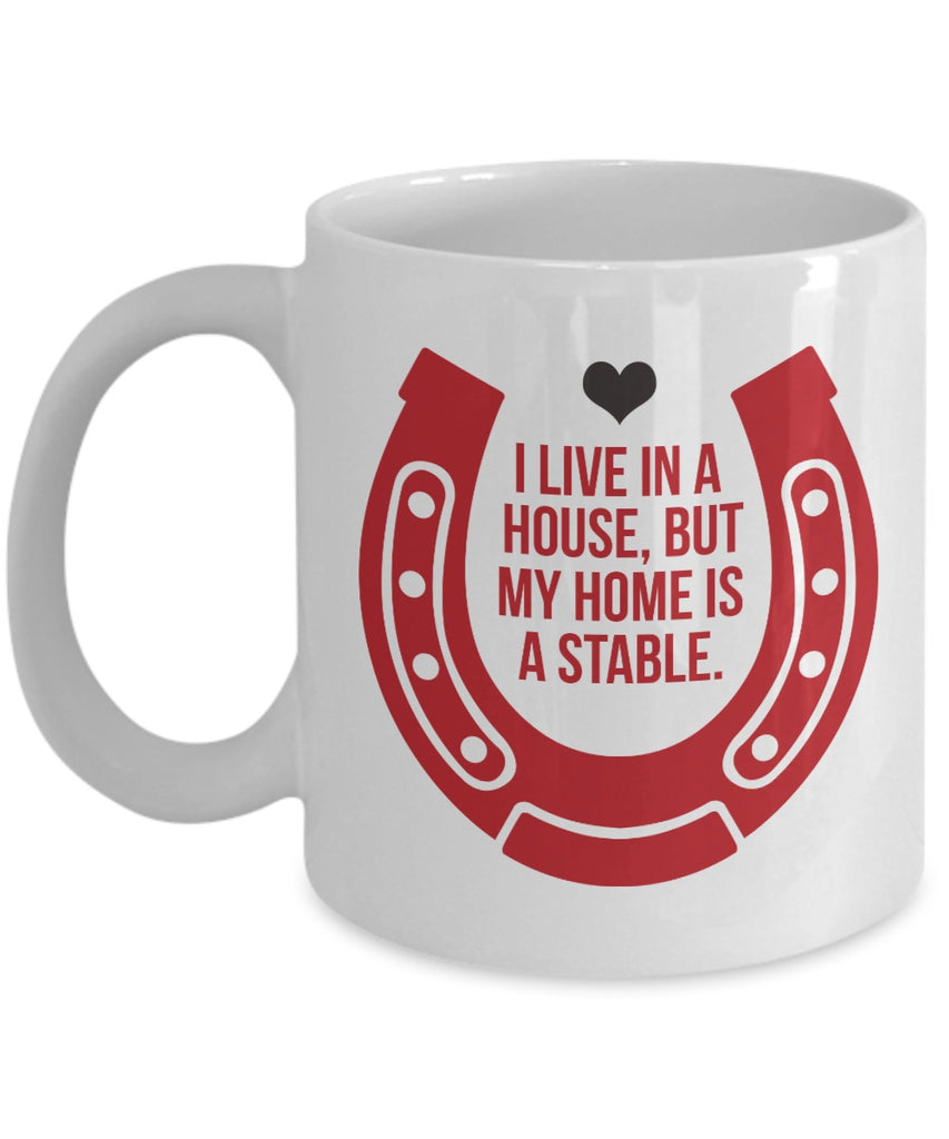 My Home Is A Stable Mug - Zana Horse - 1