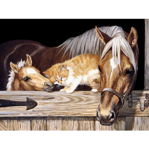 DIY Diamond Painting - Horse and Cat