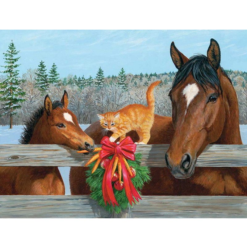 DIY Diamond Painting -  Horse Christmas - Zana Horse - 1