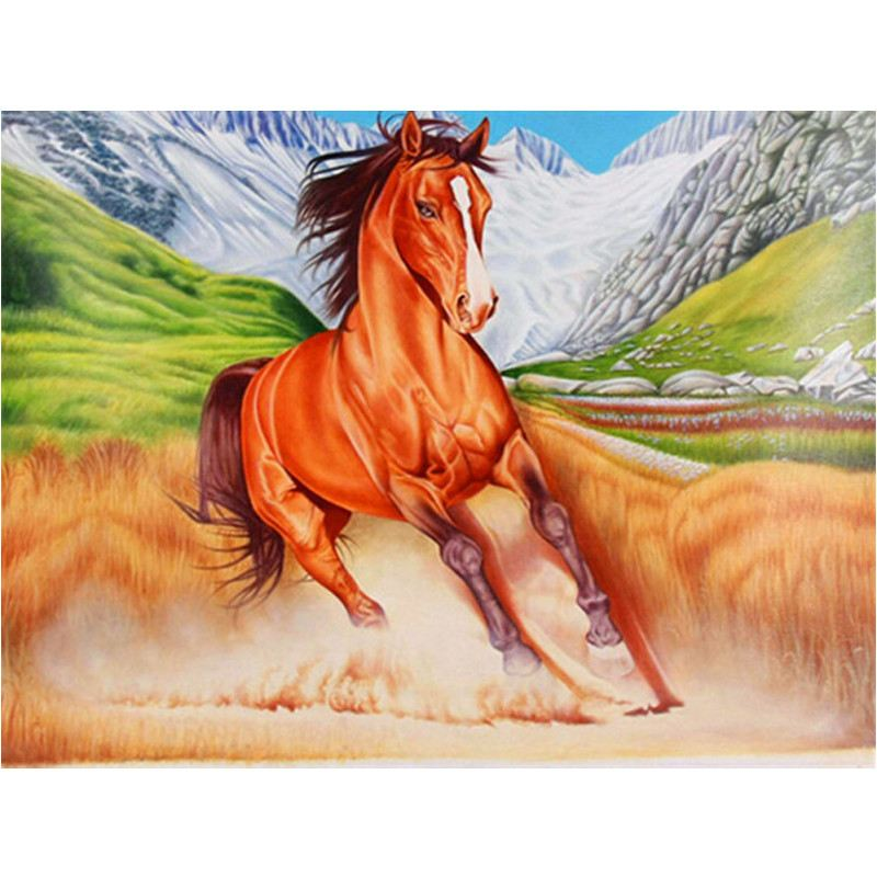 DIY Diamond Painting - The Running Horse - Zana Horse - 1